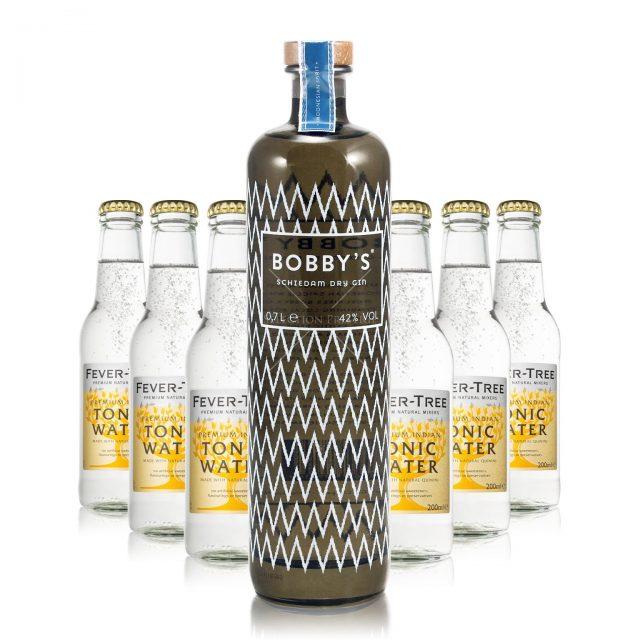 100208 Gin Tonic Set Lvii Bobbys Dry Gin Fever Tree Indian Tonic 4